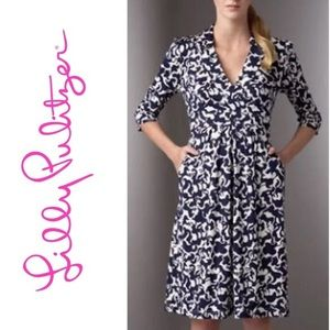Lilly Pulitzer Blayney Horse Of Course Silk Dress